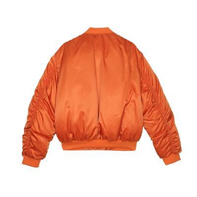 zip-up flight jumper orange